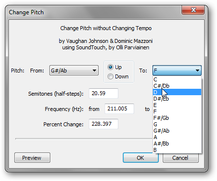 How To Change the Pitch and Tempo of an Audio Track Independently