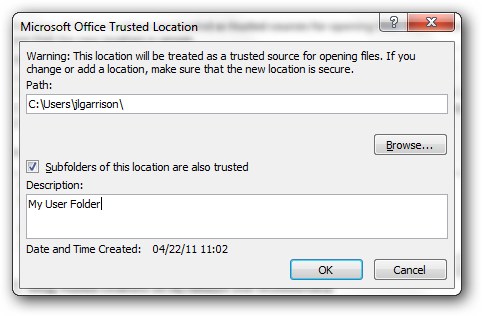 excel disable protected view registry