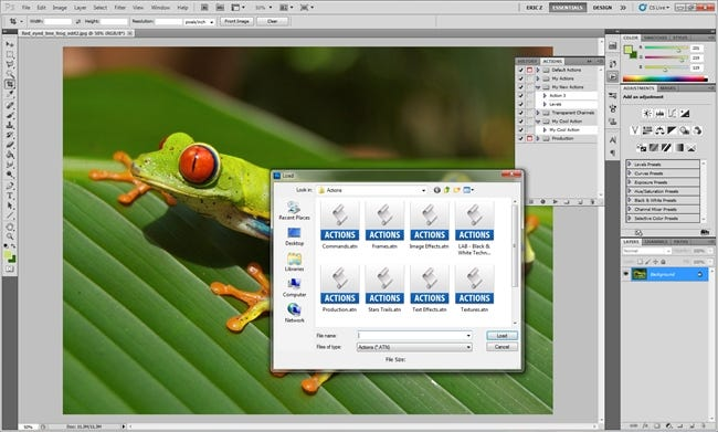 How To Save, Share, Download, and Install Custom Photoshop Actions