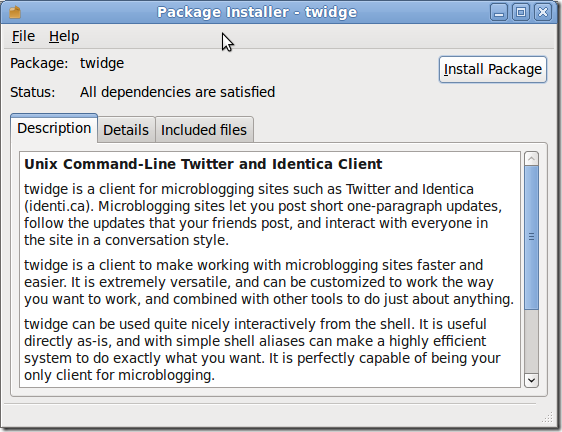 Package Installer - twidge_011