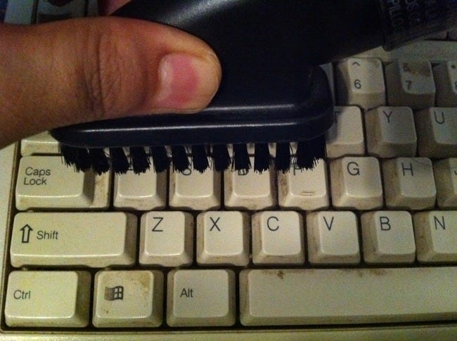 spilled juice on keyboard how to clean