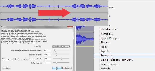 How to Recreate Popular Effects by Reversing Audio in Audacity