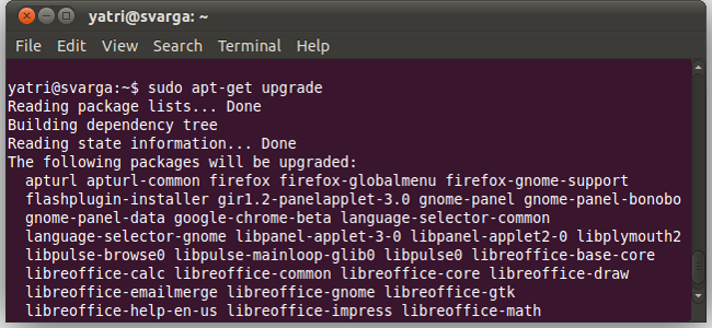 update ubuntu from terminal