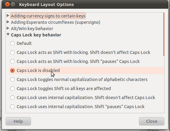 keyboard layout options