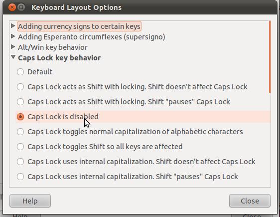 keyboard layout options