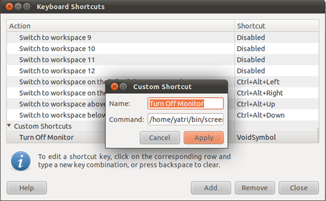 How To Turn Off Your Monitor With a Hotkey in Ubuntu