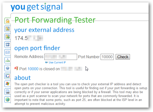 port forward tester 1