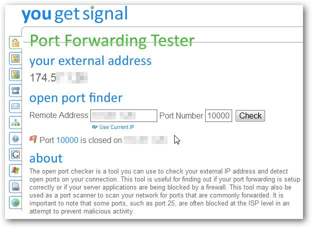 port forward tester 1