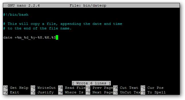 date in script