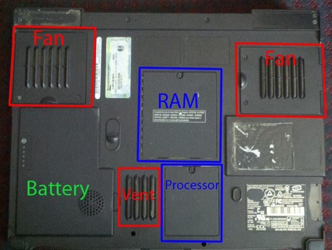 laptop underside