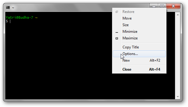 How To Improve Your Cygwin Console With Mintty