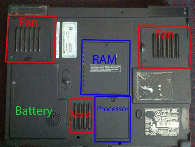 laptop underside