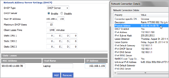 How to Set Up Static DHCP So Your Computer's IP Address