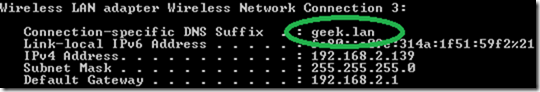 dhcp suffix3