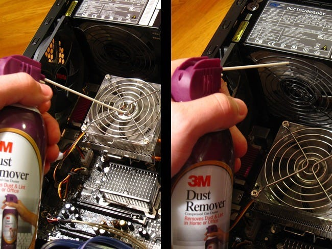 how to thoroughly clean your dirty desktop computer. Black Bedroom Furniture Sets. Home Design Ideas
