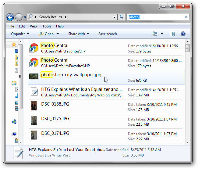 Learn How to Use Windows 7's Advanced Search Operators