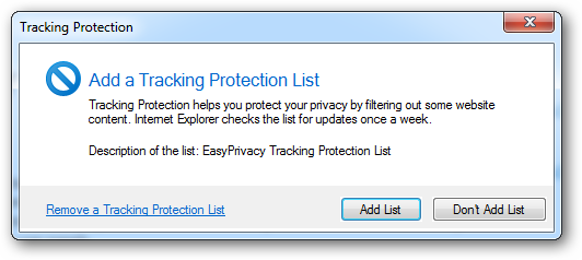 Avoid Being Tracked On The Internet Using Tracking Protection List