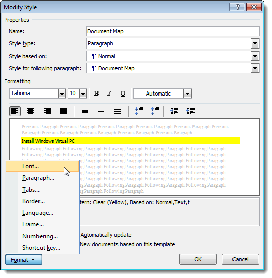 learn how to use the document map in word 2007
