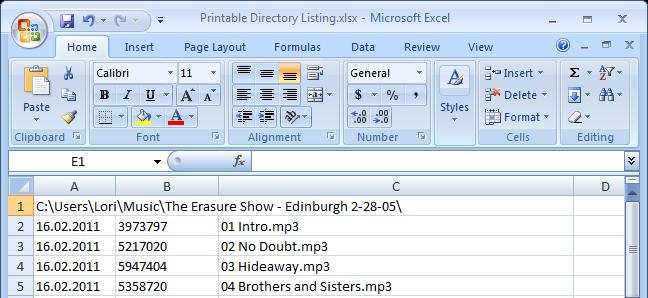 how to print folder list in windows