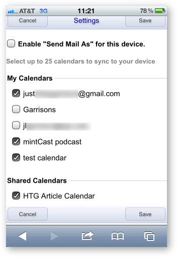 how to add shared google calendar to iphone