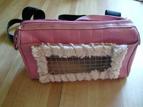 DIY-Recycled-Small-Pet-Carrier-Backpack