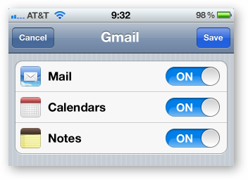 gmail settings for iphone how to sync your shared calendars with your iphone 1453