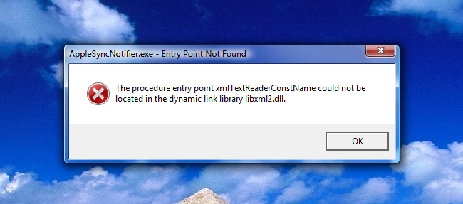 itunes.exe system error mediatoolbox.dll is missing