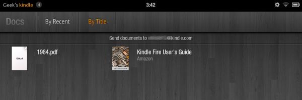 Kindle Fire Docs