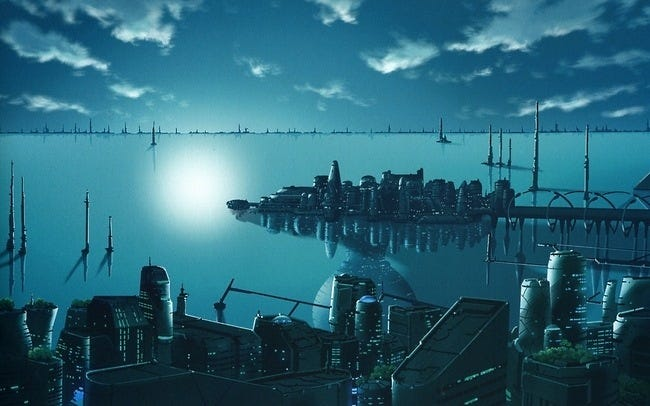 Worthy Collections Awsome Sci Fi Cities Wallpaper Collection Series 2