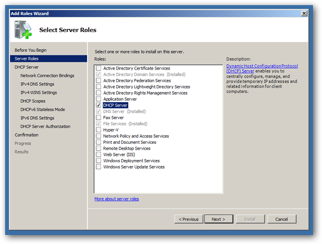 IT: How to Set Up DHCP in Windows Server 2008 R2