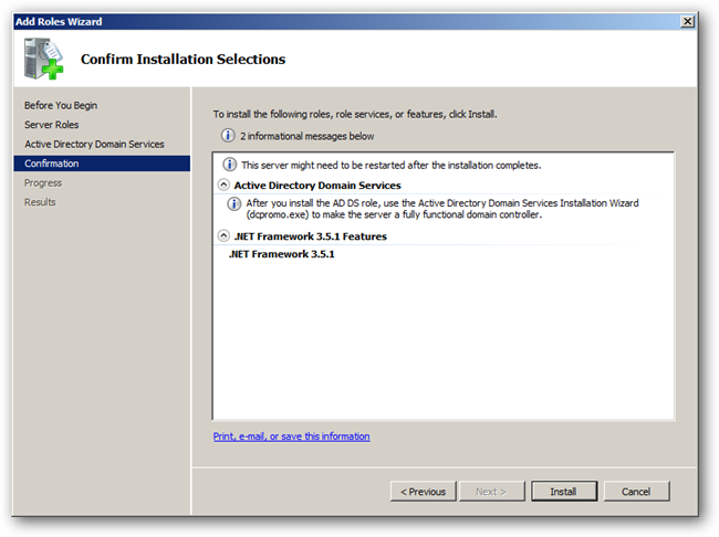 IT: How to Install Active Directory On Windows Server 2008 R2