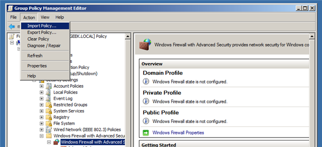 Group Policy Geek: How to Control the Windows Firewall With a GPO