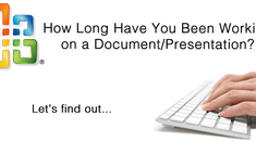 Find out How Long You've Been Working on a Document (or Presentation)