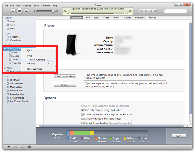 how to delete content from new itunes