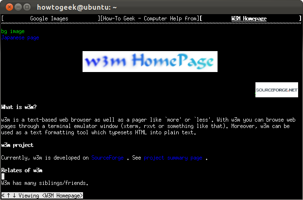 How to Browse From the Linux Terminal With W3M