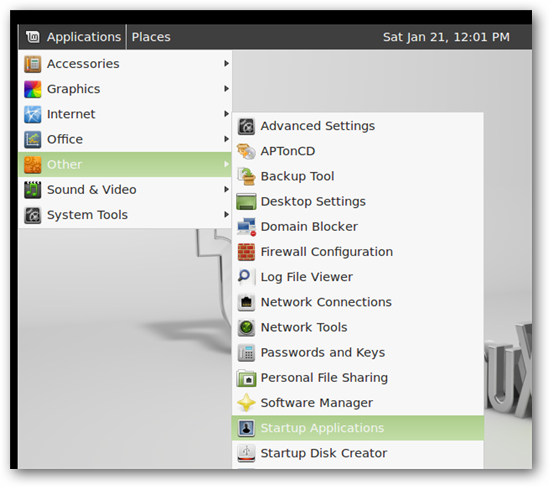 How to Make Programs Start Automatically in Linux Mint 12