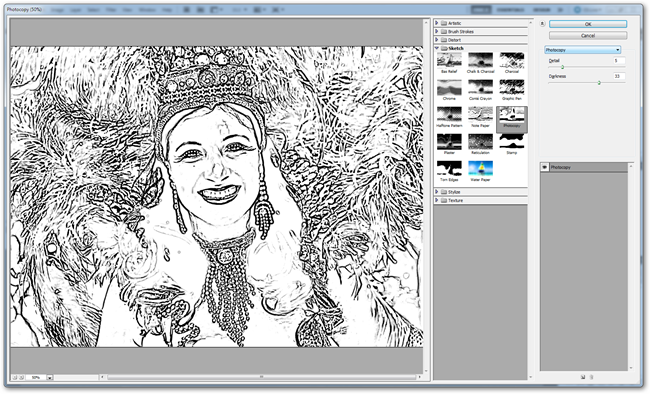 Drawing Lines With Gimp : How to make photoshop cartoons in about one minute