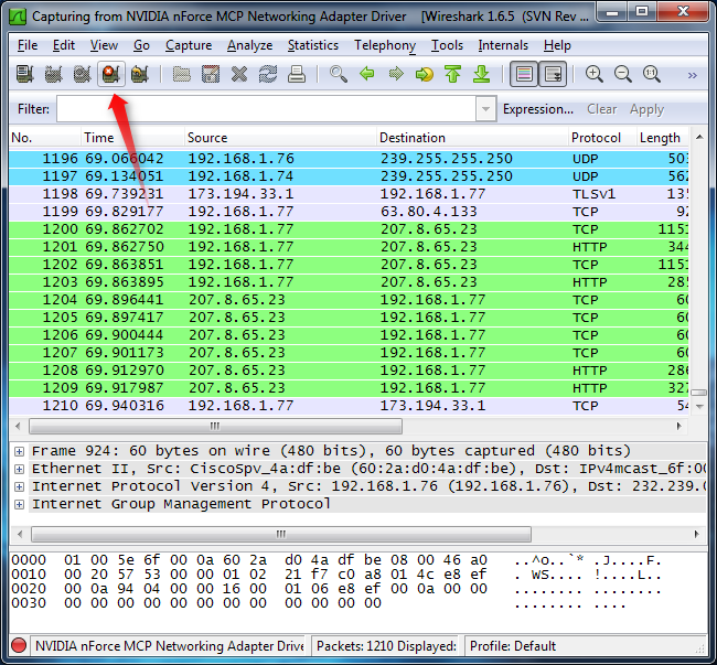 Network Capture Box : How to use wireshark capture filter and inspect packets