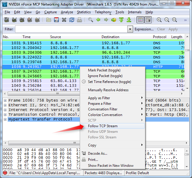 how to capture packets using wireshark