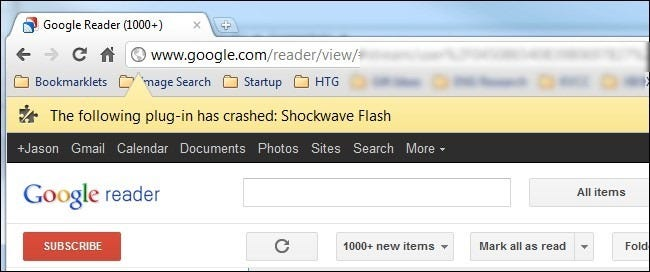 shockwave flash has crashed google chrome gratuit