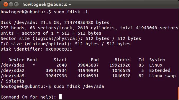 Fdisk Linux - фото 3