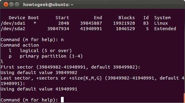 fdisk linux