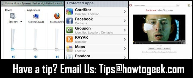 From the Tips Box: Muting Apps in Windows 7, Data Privacy on iOS