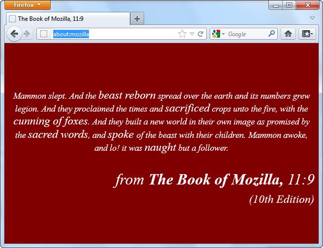 book of mozilla 1