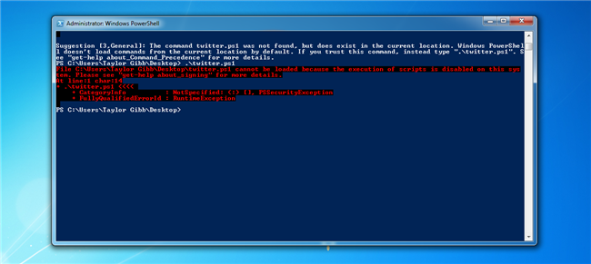 How to Allow the Execution of PowerShell Scripts on Windows 7