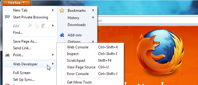 How To Use Firefox's Web Developer Tools