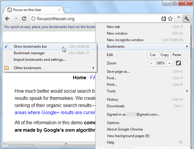 how to make bookmarks bar larger on google chrome