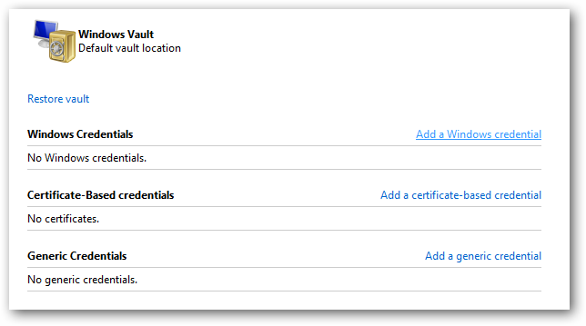 How to Add Credentials to the Windows Credential Manager Vault