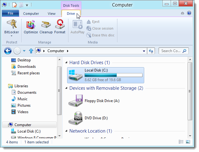 Using the New Windows Explorer Ribbon in Windows 8