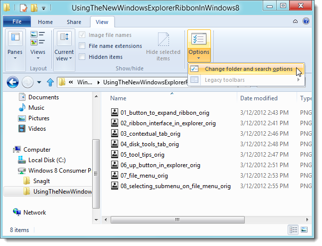 11_selecting_change_folder_and_search_options